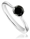Image for Round Diamond Black Ring