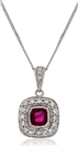 Image for Ruby & Diamond Pendant