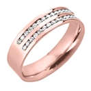 Image for 5mm Double Row 40% Diamond Wedding Ring