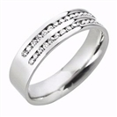 Image for 6mm Double Row 40% Diamond Wedding Ring