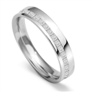 Image for 4mm Princess Diamond Offset 40% Wedding Ring