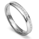 Image for 3.5mm Offset 40% Princess Diamond Wedding Ring