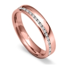 Image for 4mm Offset 40% Round Diamond Wedding Band
