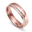 Image for 5mm Round Diamond 40% Offset Wedding Ring