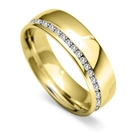 Image for 6mm Offset Round Diamond 40% Wedding Ring