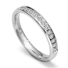 3mm Round Diamond 60% Wedding Ring