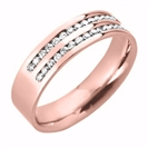 Image for 5mm Double Row 60% Diamond Wedding Ring