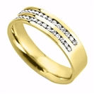 Image for 6mm Double Row Diamond 60% Wedding Ring