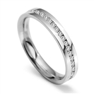 3.5mm Round Diamond 60% Wedding Ring