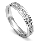 4mm Round Diamond 60% Wedding Ring