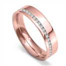 Image for 5mm Offset Round Diamond 60% Wedding Ring
