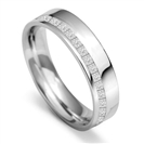 5mm Offset Princess Diamond 60% Wedding Ring