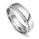 6mm Round Diamond 60% Wedding Ring