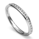 2.5mm Round Diamond 60% Wedding Ring
