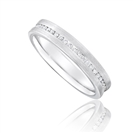 Full Set 3.5mm Round Diamond Wedding Ring