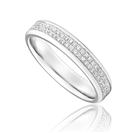 Full Set 4mm Double Row Wedding Ring