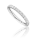 Full Set 2mm Round Diamond Wedding Ring