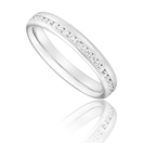 Full Set 3mm Round Diamond Wedding Ring