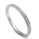 2.5mm Round Diamond Full Set Wedding Ring