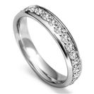 4mm Round Diamond Full Set Wedding Ring