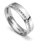 5mm Full Round Diamond Wedding Ring