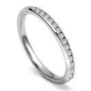 2mm Full Set Round Diamond Wedding Ring