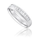 Half Set 4mm Round Diamond Wedding Ring