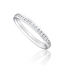 1/3 Set 2mm Round Diamond Wedding Ring