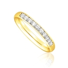 Image for 1/3 Set 2.5mm Round Diamond Wedding Ring