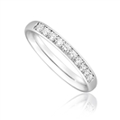 1/3 Set 2.5mm Round Diamond Wedding Ring