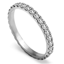 Image for Full Set 2mm Round Diamond Vintage Wedding Ring