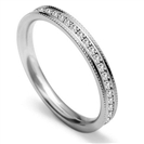 Image for Full Set 5mm Round Diamond Vintage Wedding Ring