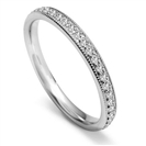 Image for Full Set 2.5mm Round Diamond Vintage Wedding Ring