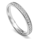 Image for Full Set 3mm Round Diamond Set Vintage Wedding Ring