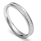 40% Princess Diamond Vintage Wedding Ring