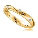 Image for 3mm Shaped Diamond Wedding Ring