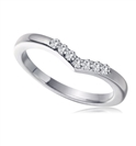 Image for 2.5mm Wishbone Shaped Diamond Wedding Ring