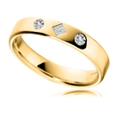 Image for 4mm Round & Princess Diamond Wedding Ring