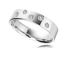 5mm Round Diamond Wedding Ring