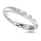 3mm Round Diamond Wedding Ring