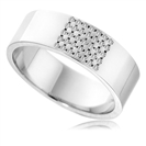 7mm Round Diamond Wedding Ring