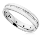 4mm Round Diamond Wedding Ring