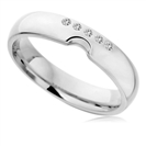 0.10ct SI/FG Round Diamond Shaped Wedding Band