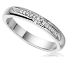 2.5mm Round Diamond Wedding Ring