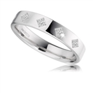 Image for 4mm Princess Diamond Wedding Ring