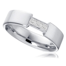 5mm Princess Diamond Wedding Ring