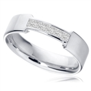 Image for 5mm Princess Diamond Wedding Ring