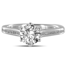 1.10CT VS1/D Round Diamond Shoulder Set Ring