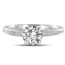 GIA CERTIFIED 0.70CT VS2/D Round Diamond Shoulder Set Ring