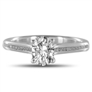 Image for Oval Diamond Crossover Shoulder Set Ring